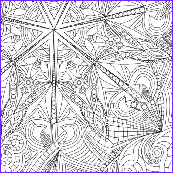 kaleidoscope coloring page 9 x 12