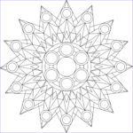 Kaleidoscope Coloring Cool Photography Kaleidoscope A Free Printable Mandala Coloring Page From