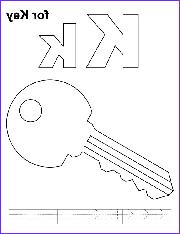 Key Coloring Page Beautiful Collection K for Key Coloring Page with Handwriting Practice