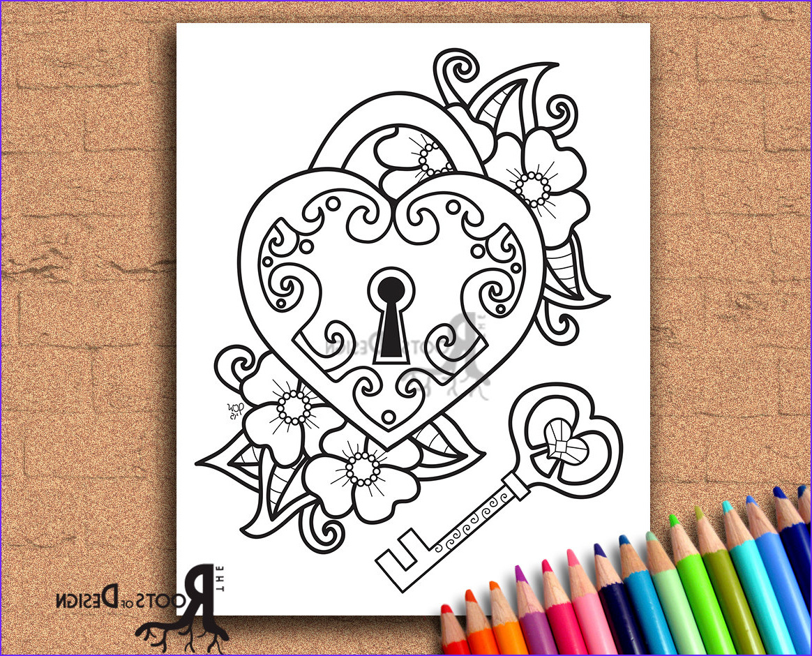 instant coloring page key to my