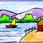 Kid Paint Coloring Beautiful Collection Scenery Drawing for Kids