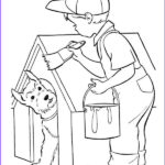 Kid Paint Coloring Inspirational Image Kid Paint His Dog House Coloring Page Coloring Sky