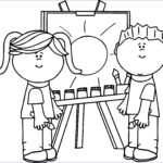 Kid Paint Coloring New Image 38 Coloring Page Kids Kids Making Painting Coloring Page