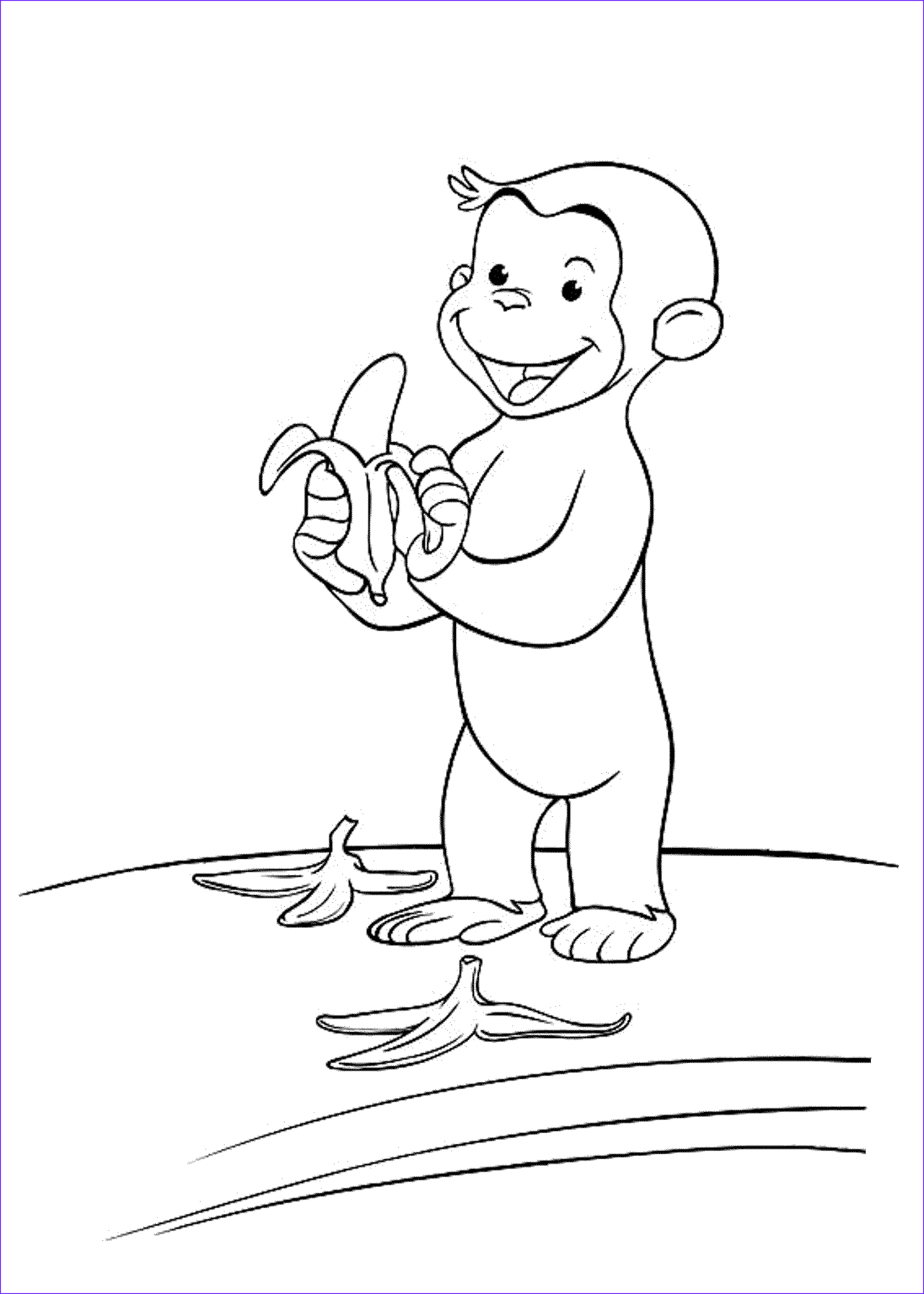 curious george coloring pages stimulate kids fine motor skills