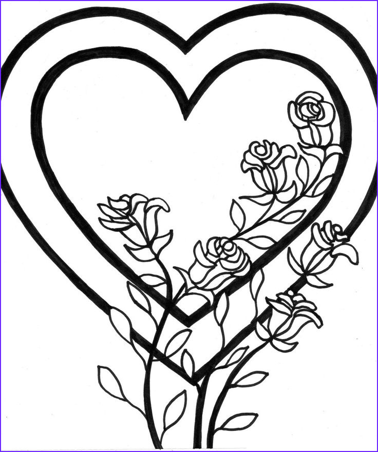 Kids Free Coloring Pages New Image Free Printable Heart Coloring Pages for Kids
