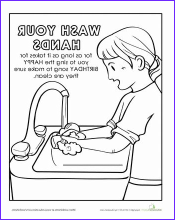Kindergarten Coloring Pages Free Beautiful Collection Hand Washing Coloring Page Lifeskills