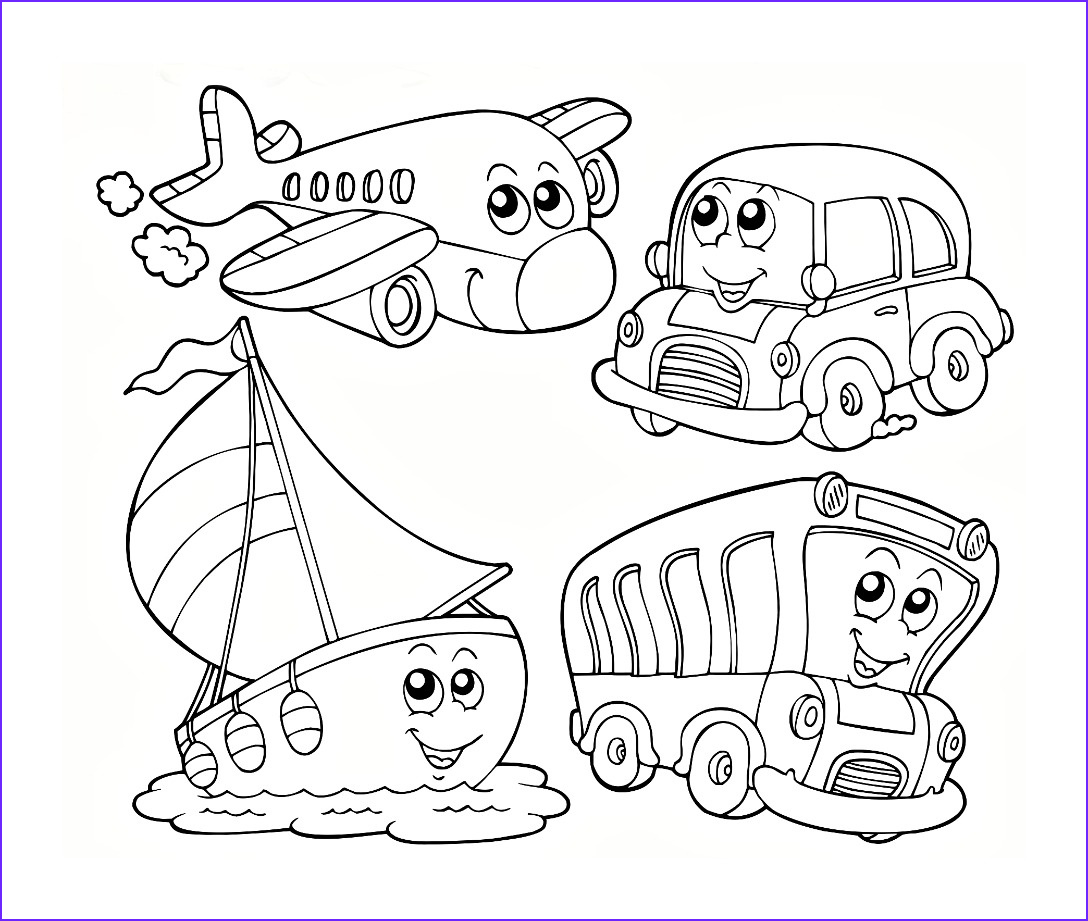 Kindergarten Coloring Pages Free Luxury Images Transport Colouring Pages Pinterest Transport Colouring