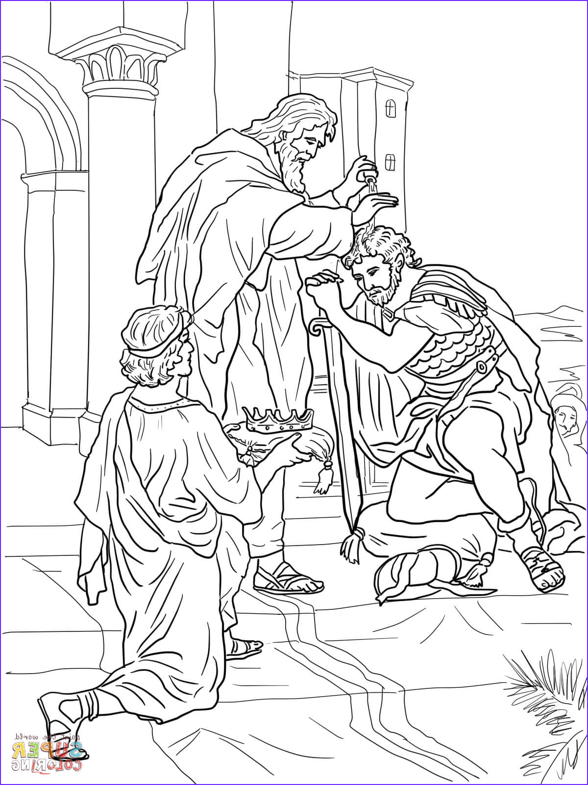 King David Coloring Page Cool Photos David is Crowned King Coloring Page
