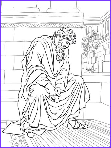 King David Coloring Page New Collection David Weeping Over the Death Of Absalom Coloring Page From