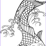 Koi Coloring Pages Awesome Collection Koi Fish With Sun Tattoo On Its Forehead Coloring Pages