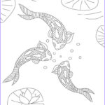 Koi Coloring Pages Awesome Photos Koi Fish Coloring Pages For Adults Free Printable Koi