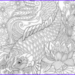 Koi Coloring Pages Awesome Stock Koi Fish Coloring