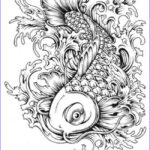 Koi Coloring Pages Beautiful Stock Japan Concept By Gthc85 Cool Pinterest