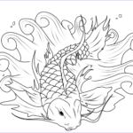 Koi Coloring Pages Best Of Photos Koi Fish Coloring Pages To And Print For Free