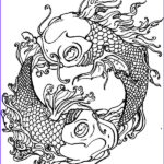 Koi Coloring Pages Best Of Photos Koi Fish Yin Yang Coloring Pages Download & Print Line