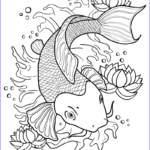 Koi Coloring Pages Elegant Stock Koi Fish In A Pond Coloring Page Print Color Fun