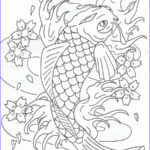 Koi Coloring Pages Unique Images Leaping Koi Fish By Heavy Metal Ink On Deviantart
