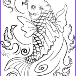 Koi Coloring Pages Unique Photography Koi Fish Art Coloring Page