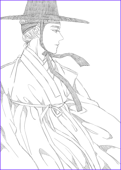 Korean Coloring Book Beautiful Collection Korean Hanbok Coloring Page Sketch Coloring Page