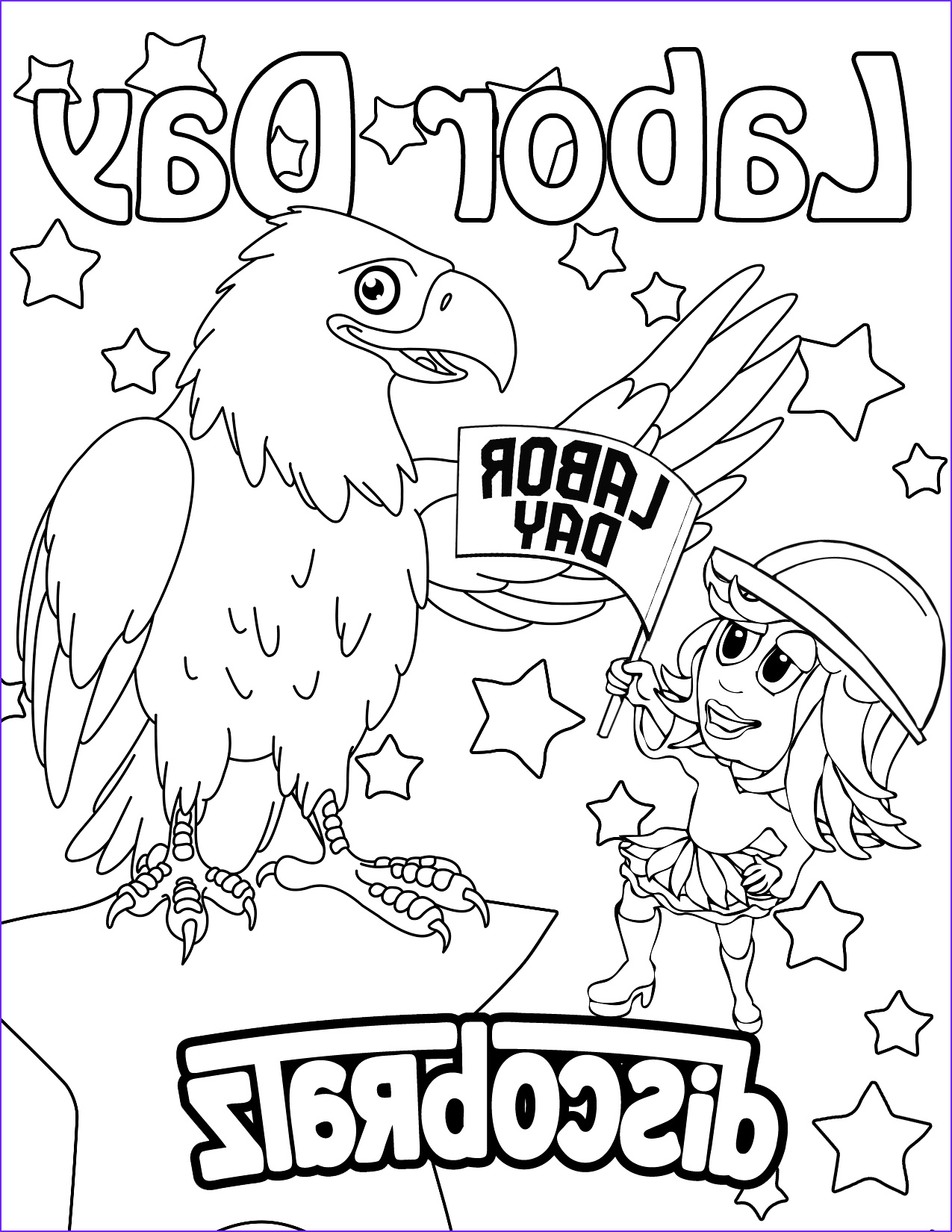 Labor Day Coloring Pages Cool Collection Discobratz Celebrates the Workers Of the World with A