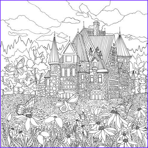 Detailed Landscape Coloring Pages For Adults part 7