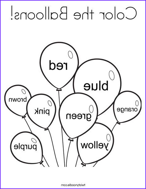Learning Coloring Pages Cool Photos Color the Balloons Coloring Page From Twistynoodle