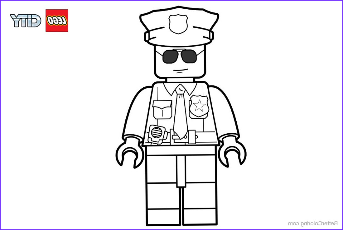 Lego City Coloring Pages Beautiful Photos Lego City Police Coloring Pages Free Printable Coloring