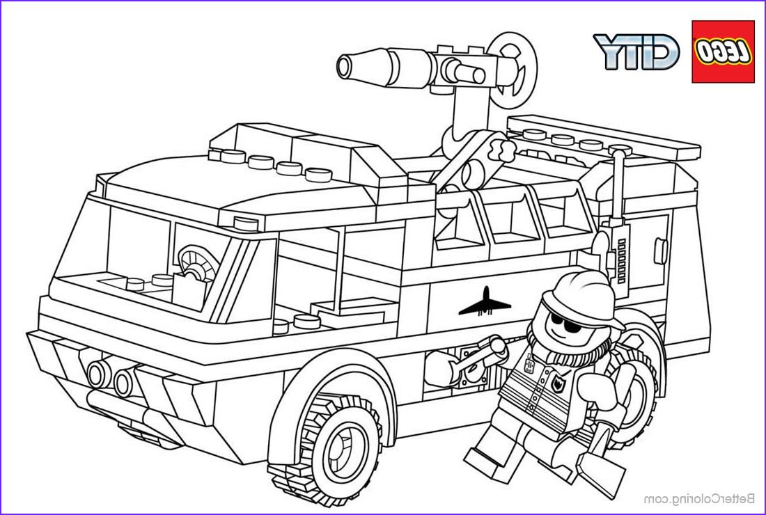 Lego City Coloring Pages Elegant Photography Lego City Fireman Coloring Pages Free Printable Coloring
