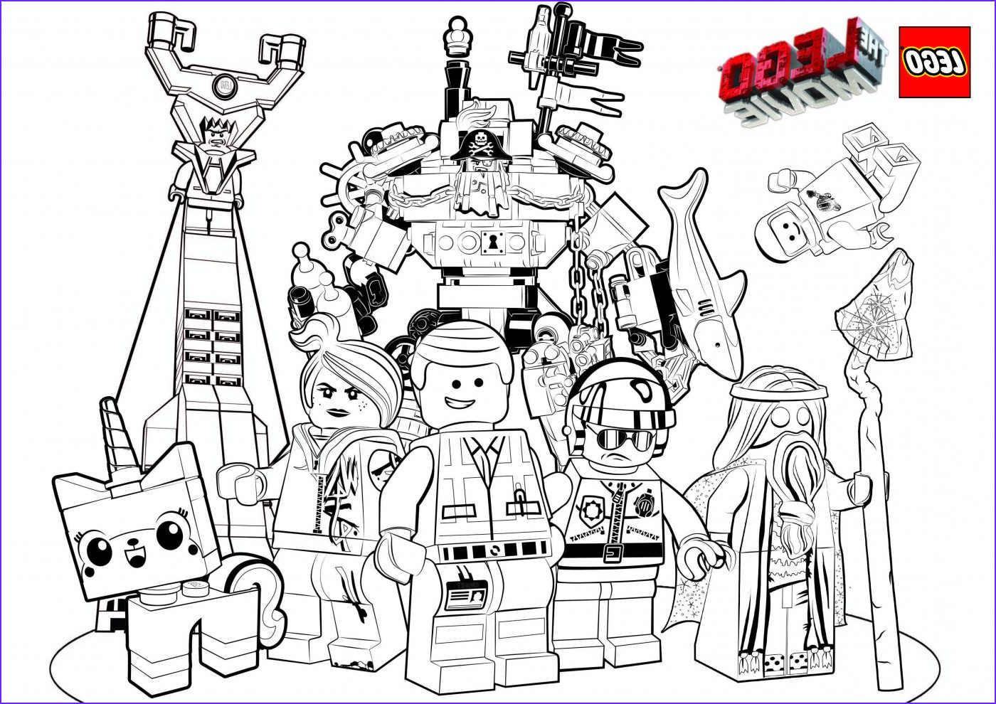free the lego movie coloring pages and lego face masks