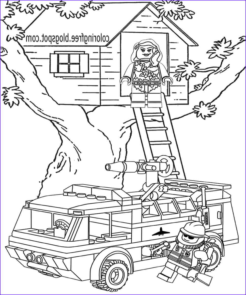 printable lego city coloring pages for