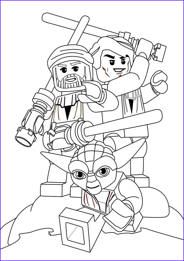 star wars characters lego coloring page