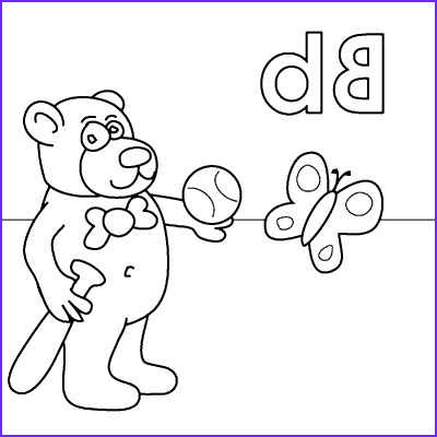 Letter B Coloring Pages Beautiful Photography Letter B Coloring Page Bear Bat Ball butterfly From