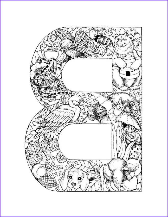 Letter B Coloring Pages Elegant Stock Letter B Picture Printable