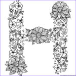 Letter H Coloring Pages Best Of Photos Floral Alphabet Letter H Coloring Pages – Getcoloringpages