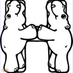 Letter H Coloring Pages Elegant Collection Letter H Is For Hippo Hippopotamus Coloring Page