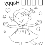 Letter H Coloring Pages Luxury Photos Letter H Is For Happy Coloring Page