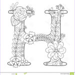 Letter H Coloring Pages New Photos Letter H Coloring Book For Adults Vector Stock Vector