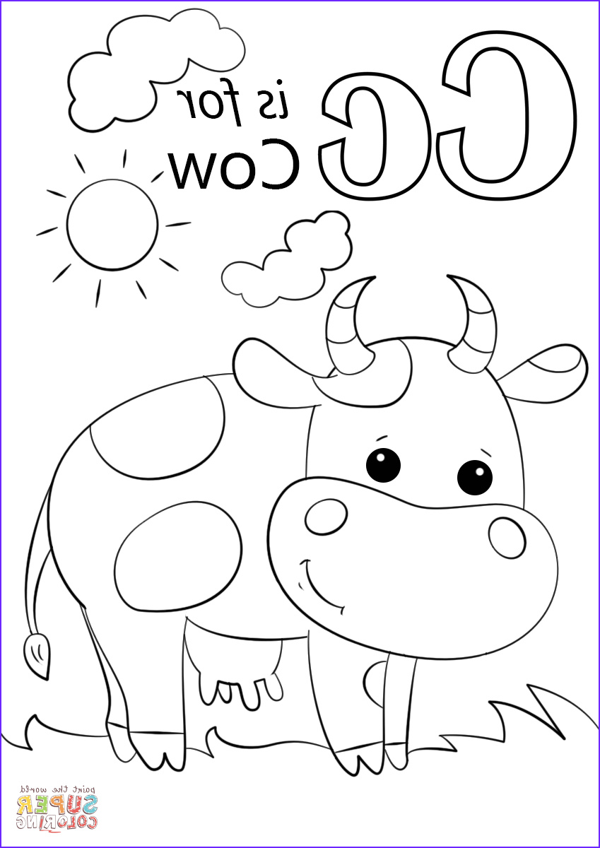 Letter I Coloring Pages for Preschoolers Best Of Images Letter C is for Cow Coloring Page From Letter C Category