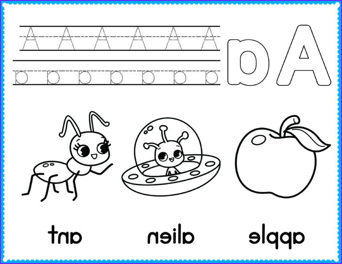 free alphabet coloring pages preschool printables