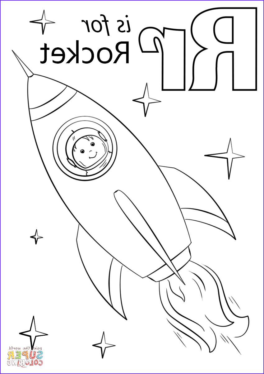 Letter I Coloring Pages for Preschoolers Elegant Photos Letter R is for Rocket Coloring Page
