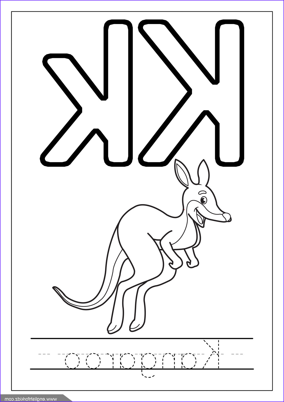 Letter K Coloring Sheet Beautiful Image English for Kids Step by Step