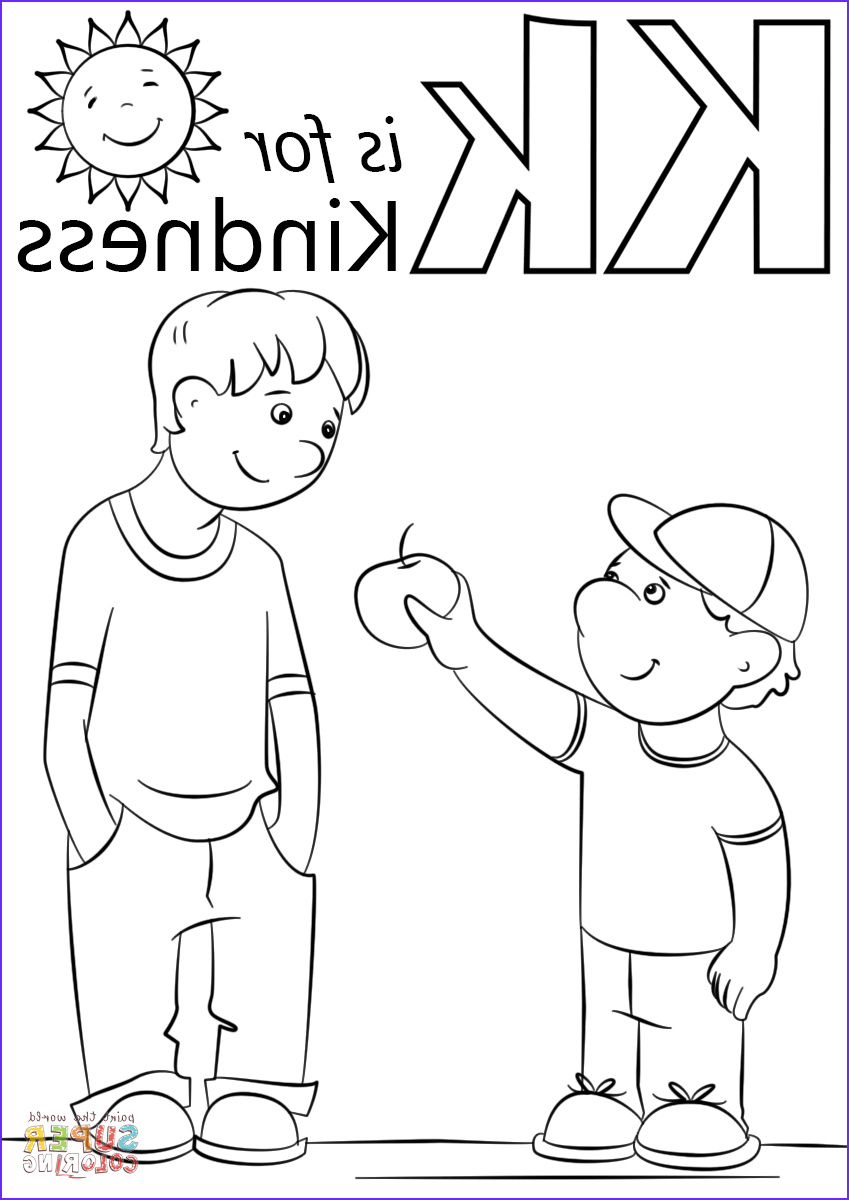 Letter K Coloring Sheet Beautiful Stock Letter K is for Kindness Coloring Page