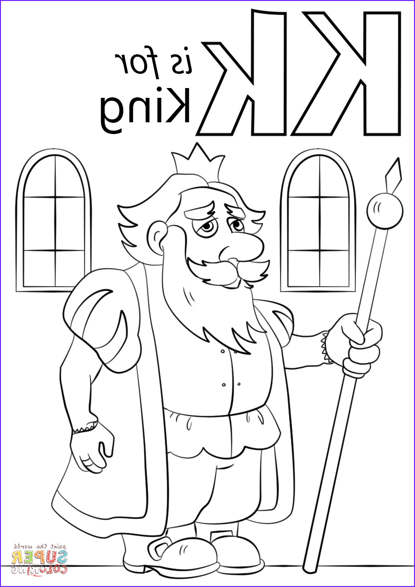 Letter K Coloring Sheet Luxury Photography Letter K is for King Coloring Page