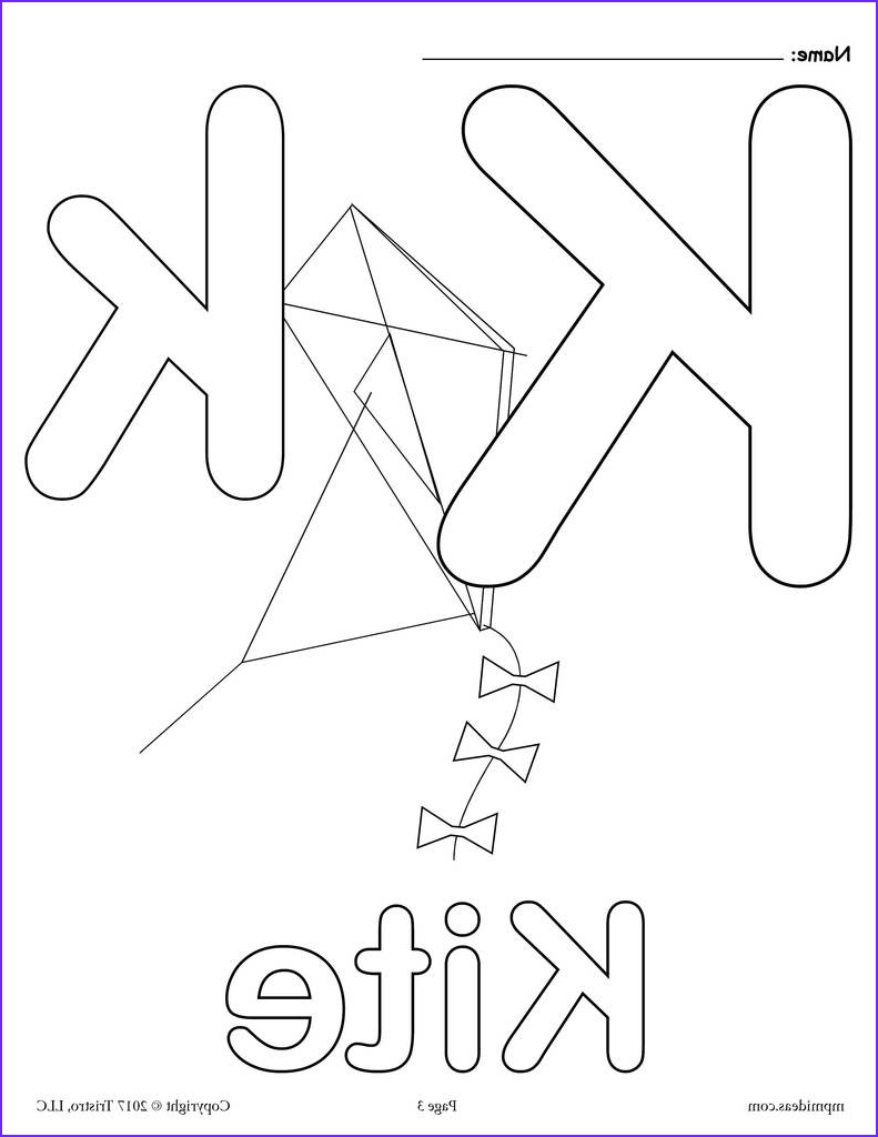 Letter K Coloring Sheet New Collection Letter K Alphabet Coloring Pages 3 Free Printable