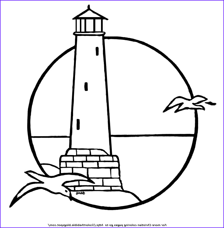 Lighthouse Coloring Pages Beautiful Gallery A Lighthouse Coloring Page