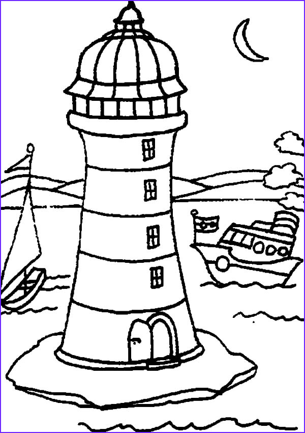 Lighthouse Coloring Pages Beautiful Photos Lighthouse at Coastline Coloring Pages Gianfreda