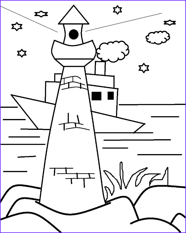 Lighthouse Coloring Pages Cool Gallery Lighthouse is Boat Navigation Coloring Pages Download