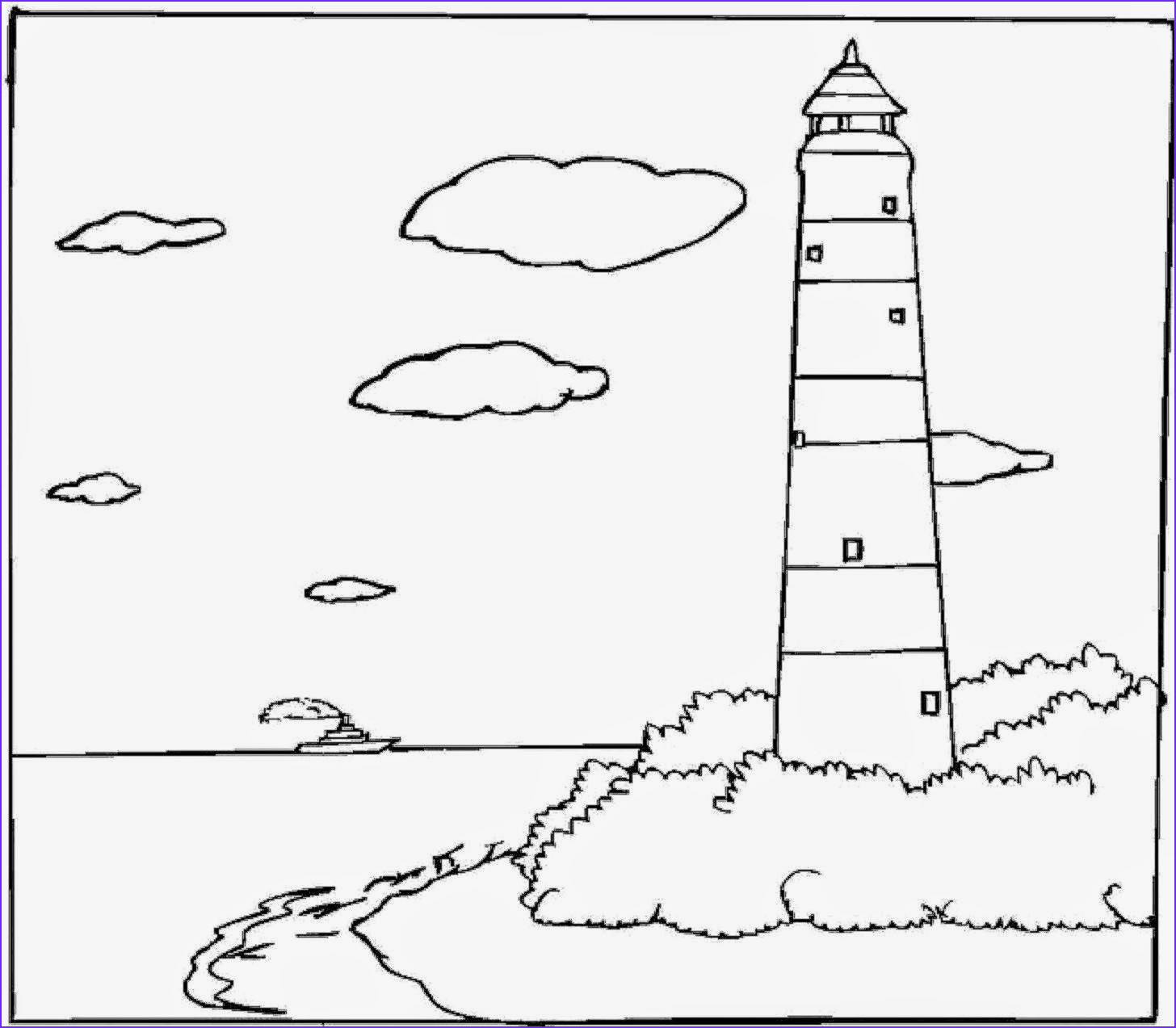 Lighthouse Coloring Pages Elegant Image February 2015