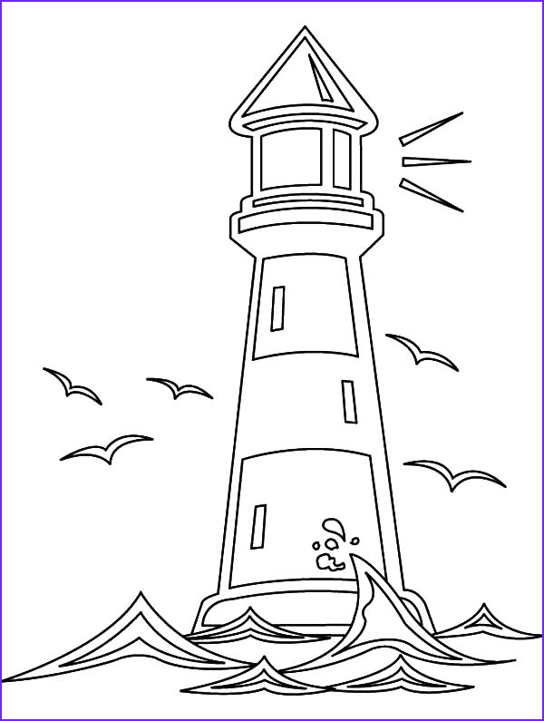 Lighthouse Coloring Pages Inspirational Gallery Lighthouse and Seagulls Coloring Pages Download & Print
