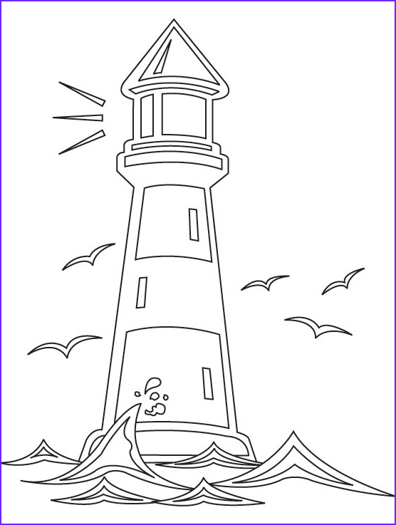 Lighthouse Coloring Pages New Gallery Lighthouse Coloring Pages Bestofcoloring